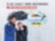 Ein Mann und eine Frau stehen im Regen gemeinsam unter einem Regenschirm. Rechts neben ihnen ist eine Gedankenblase in der zwei Liegestühle unter einem Sonnenschirm auf einem Strand stehen.