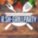 Auf einer Grafik liegen im Hintergrund auf einem Holztisch mehrere Grillutensilien sowie Nahrungsmittel. Mittig ist das Icon eines Grills mit der Aufschrift die R.SH Grillparty platziert.
