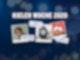 """Vor dunkelblauem Hintergrund und dem Schriftzug """"Kieler Woche 2020"""" sind die Bilder von drei Menschen zu sehen: Michael Schulte, Lotte und Milow."""